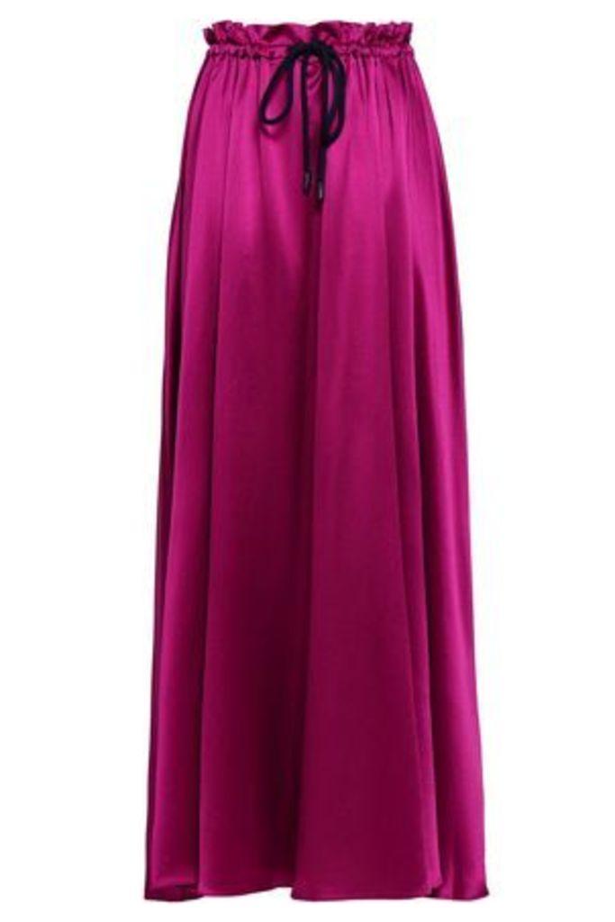 Roksanda Woman Silk-satin Maxi Skirt Magenta Size 14