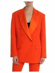 MSGM Orange Oversize Blazer