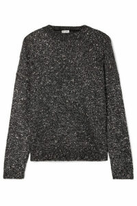 SAINT LAURENT - Sequined Stretch-knit Sweater - Charcoal