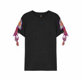 RAGYARD Phoenix Wing-appliquéd Cotton T-shirt