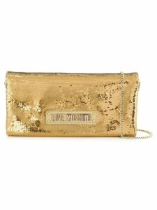 Love Moschino sequinned shoulder bag - Gold