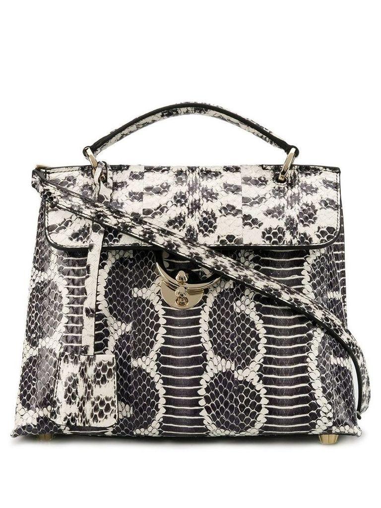 Salvatore Ferragamo snakeskin top handle bag - Black