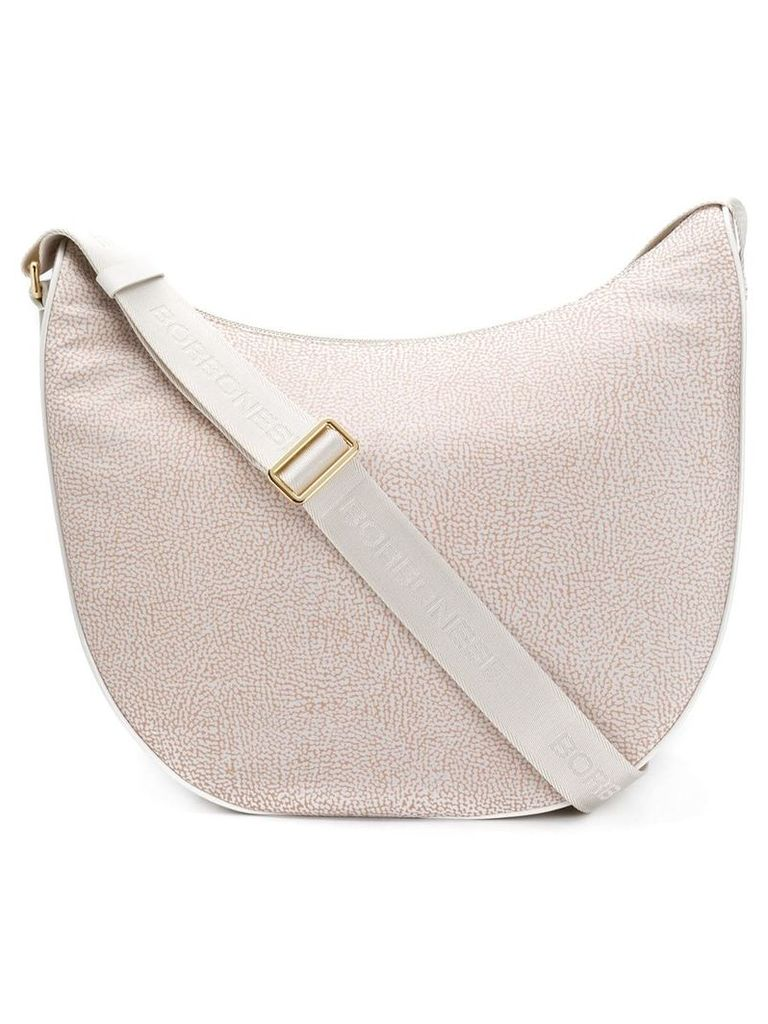 Borbonese micro-pattern shouder bag - Neutrals