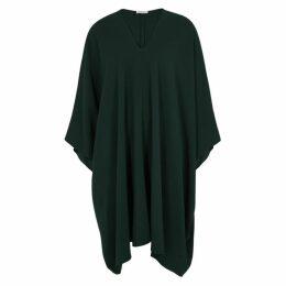 THE ROW Iona Dark Green Draped Dress