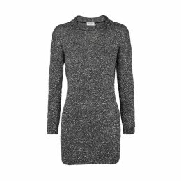 Saint Laurent Black Sequinned Stretch-knit Mini Dress