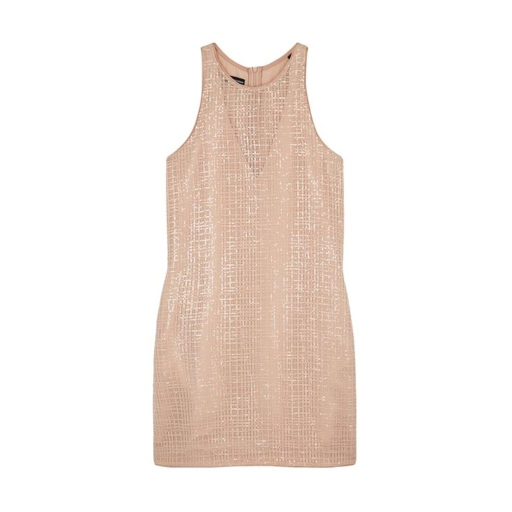 Emporio Armani Almond Embellished Mini Shift Dress