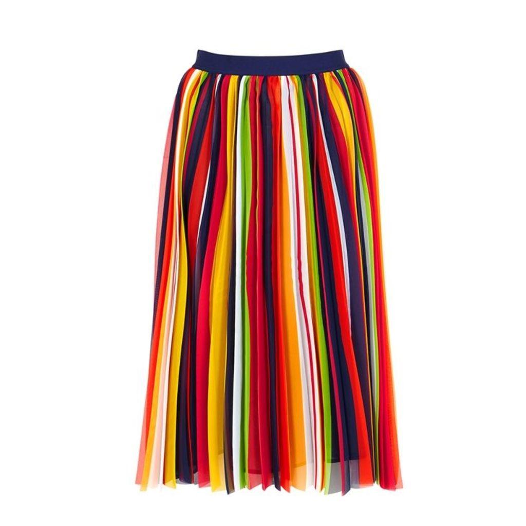 PINKO Pleated Chiffon Midi Skirt