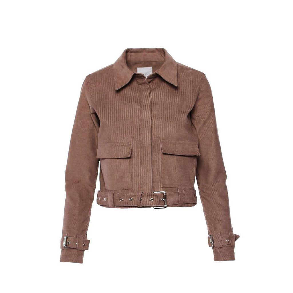 IMAIMA - Filiz Corduroy Bikerjacket In Khaki