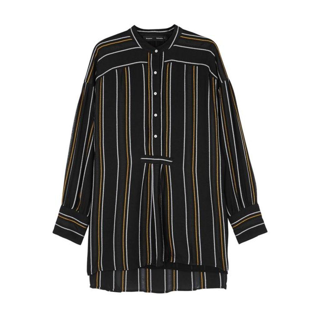 Proenza Schouler Black Striped Crepe Shirt