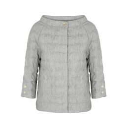 Herno Grey Quilted Linen Jacket