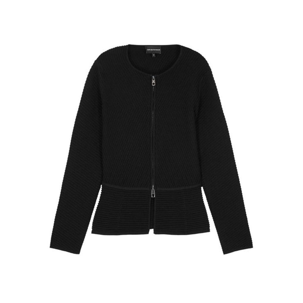 Emporio Armani Black Ribbed Jacket