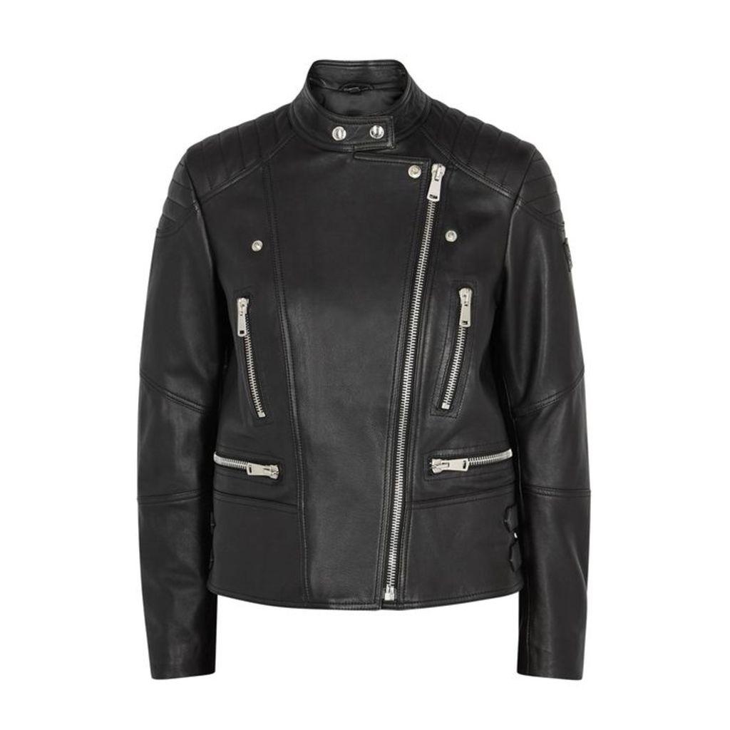 Belstaff Sidney 3.0 Black Leather Jacket