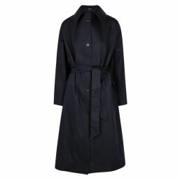 KASSL Navy Cotton-blend Trench Coat