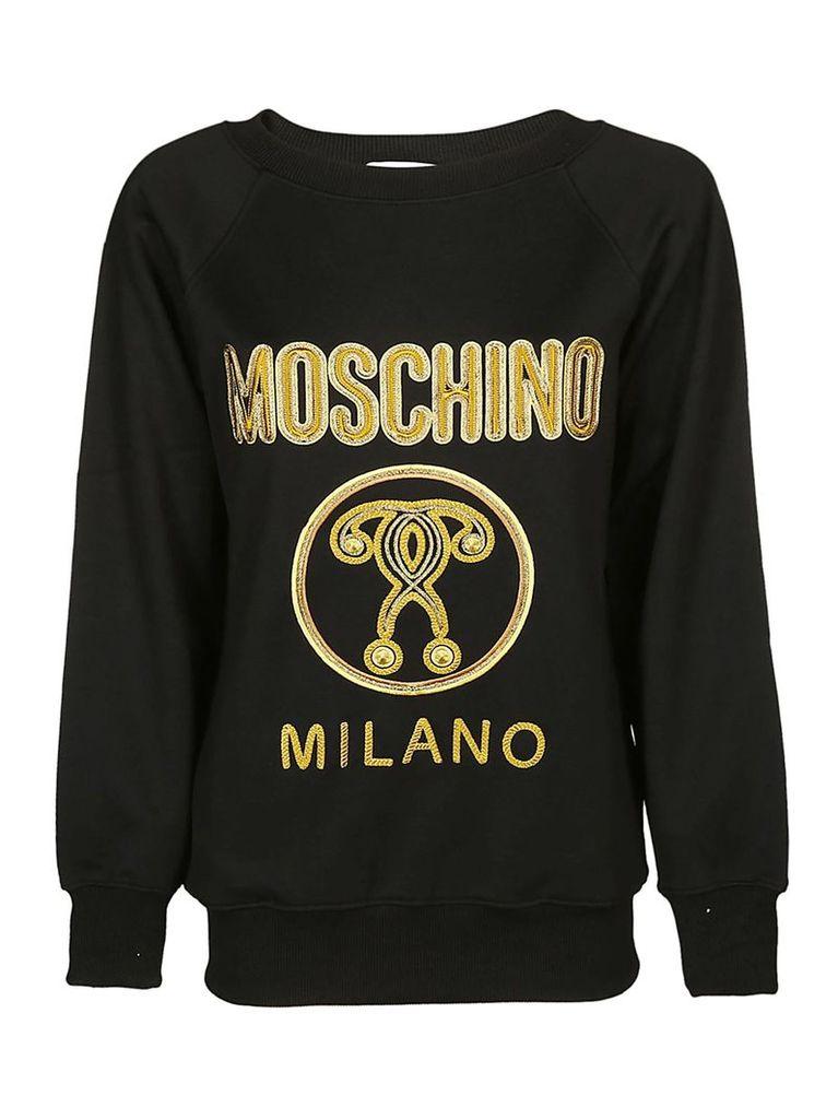 Moschino Embroidered Logo Sweatshirt