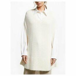 Modern Rarity J. JS Lee Knit Poncho, Cream