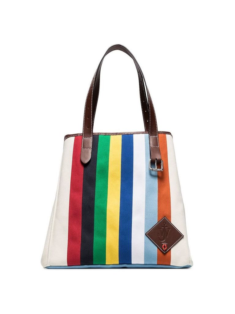 JW Anderson multicoloured belt strap canvas tote bag - 110 Calico