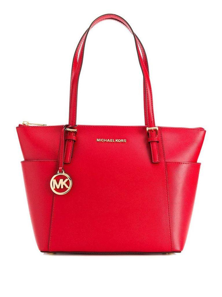 Michael Michael Kors Jet Set saffiano leather tote bag - Red