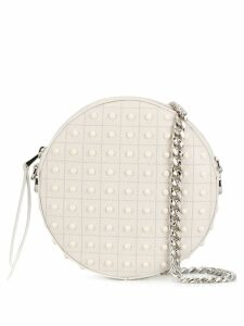 Tod's round Gommini crossbody bag - White