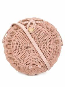 Ulla Johnson round woven crossbody bag - Pink