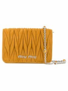 Miu Miu micro Matelassé crossbody bag - Yellow