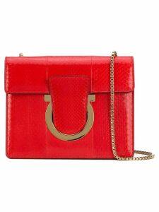 Salvatore Ferragamo Gancini flap bag - Red