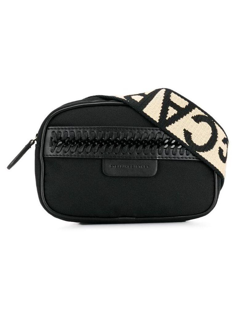 Stella McCartney logo strap belt bag - Black
