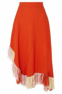 Esteban Cortázar - Fringed Jersey Skirt - Orange