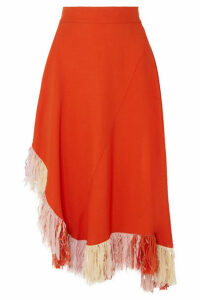 Esteban Cortazar - Fringed Jersey Skirt - Orange