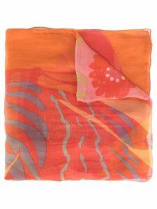 Salvatore Ferragamo Pre-Owned printed scarf - Orange