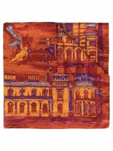 Romeo Gigli Pre-Owned printed scarf - Orange