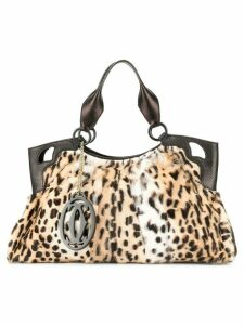 Cartier Pre-Owned leopard tote bag - Brown