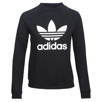 adidas  TRF CREW SWEAT  women's Sweatshirt in Black