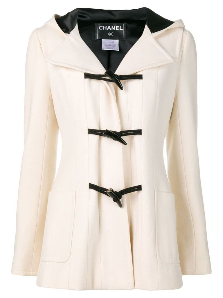 Chanel Pre-Owned hooded duffle coat - Neutrals