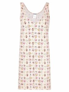 Chanel Pre-Owned heart print dress - White