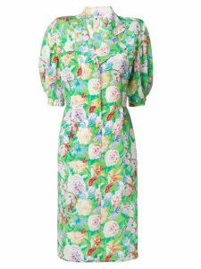 Emanuel Ungaro Pre-Owned floral print midi dress - Green