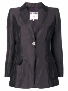 Moschino Pre-Owned single button blazer - Blue