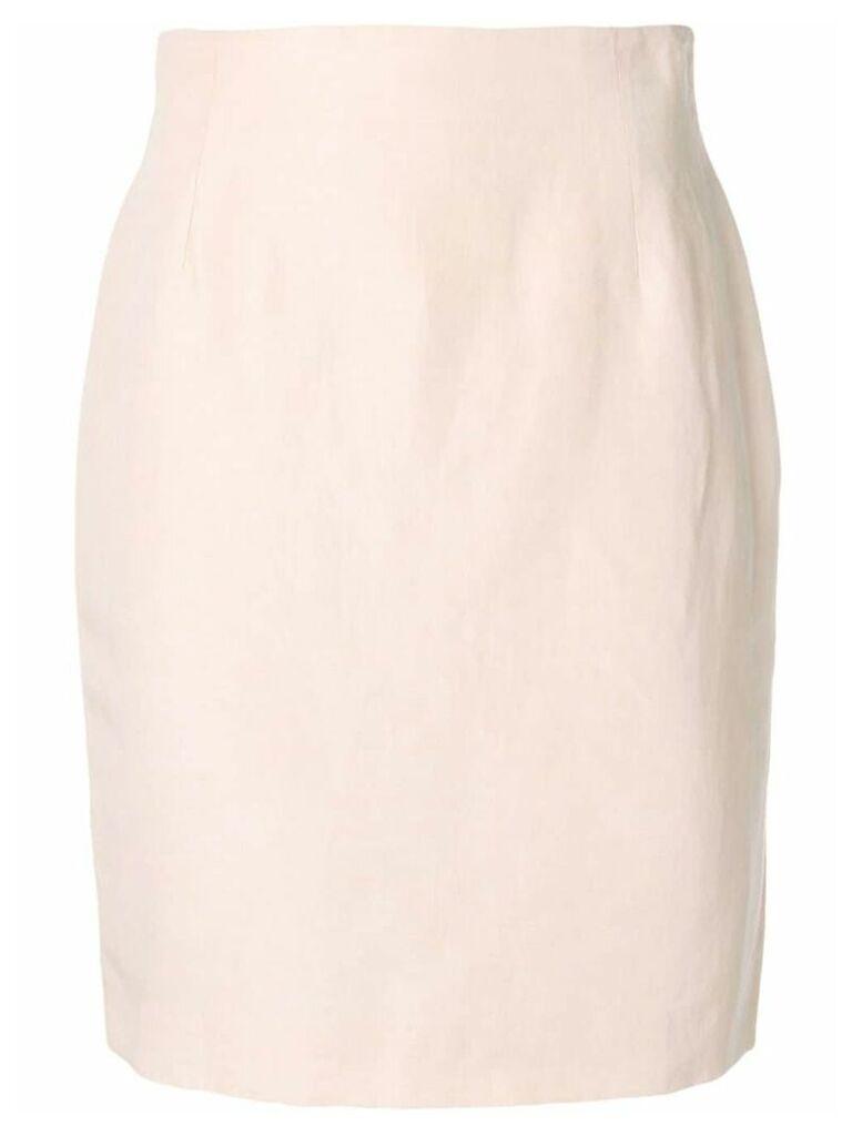Fendi Pre-Owned midi pencil skirt - PINK