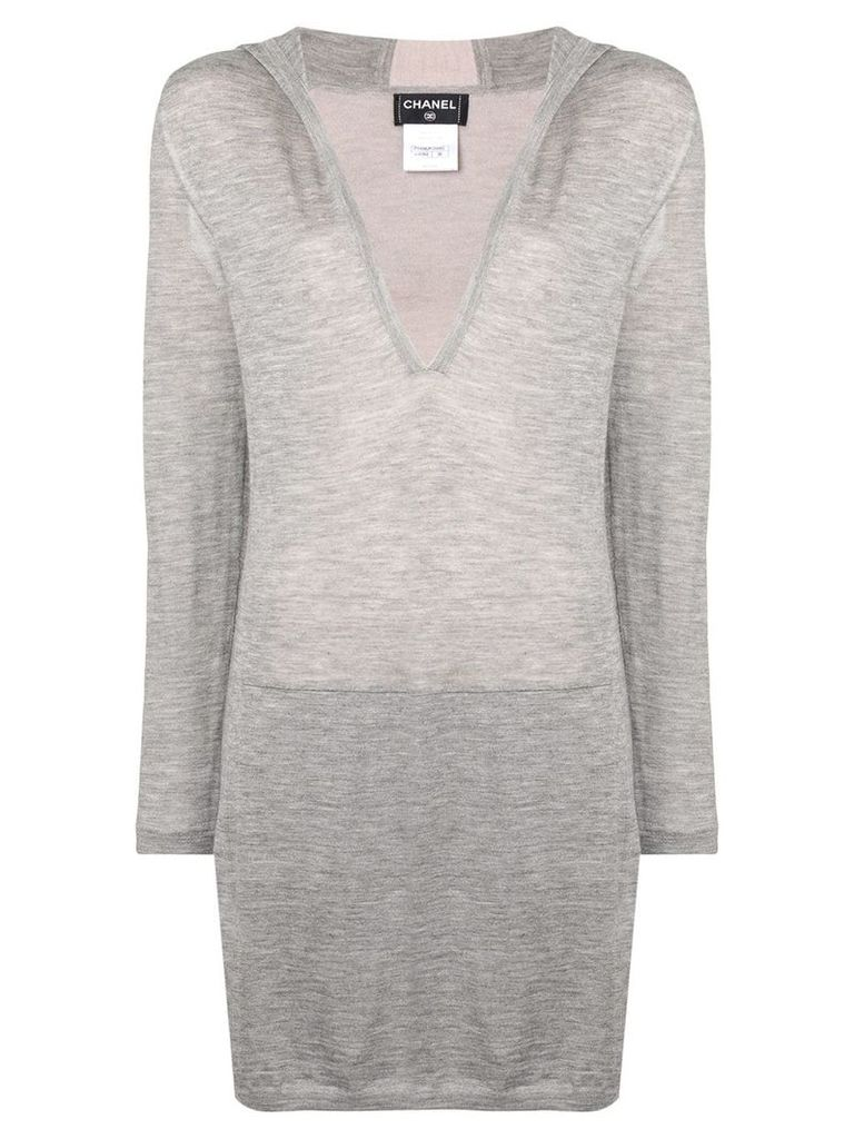 Chanel Vintage hooded long sweater - Grey