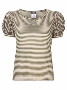 Chanel Pre-Owned striped T-shirt - Brown