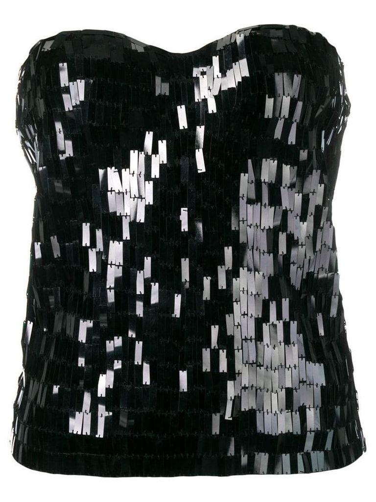 Giorgio Armani Vintage rectangle sequin top - Black