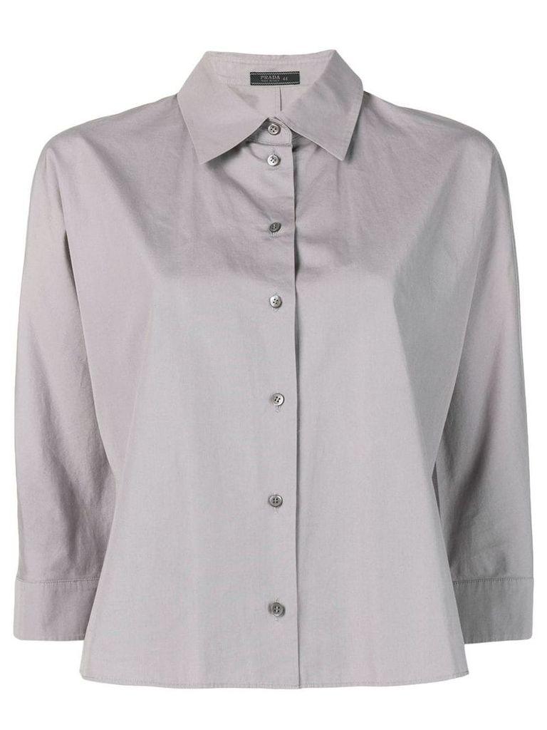 Prada Vintage cropped button-down shirt - Grey