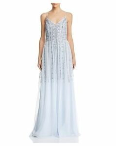 Aidan Mattox Bead & Sequin Embellished Gown