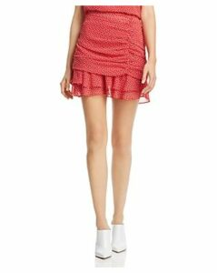 Aqua Ruched Heart Print Skirt - 100% Exclusive
