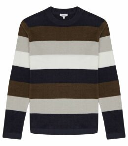 Reiss Colorado - Chanelle Striped Jumper in Multi, Mens, Size XXL