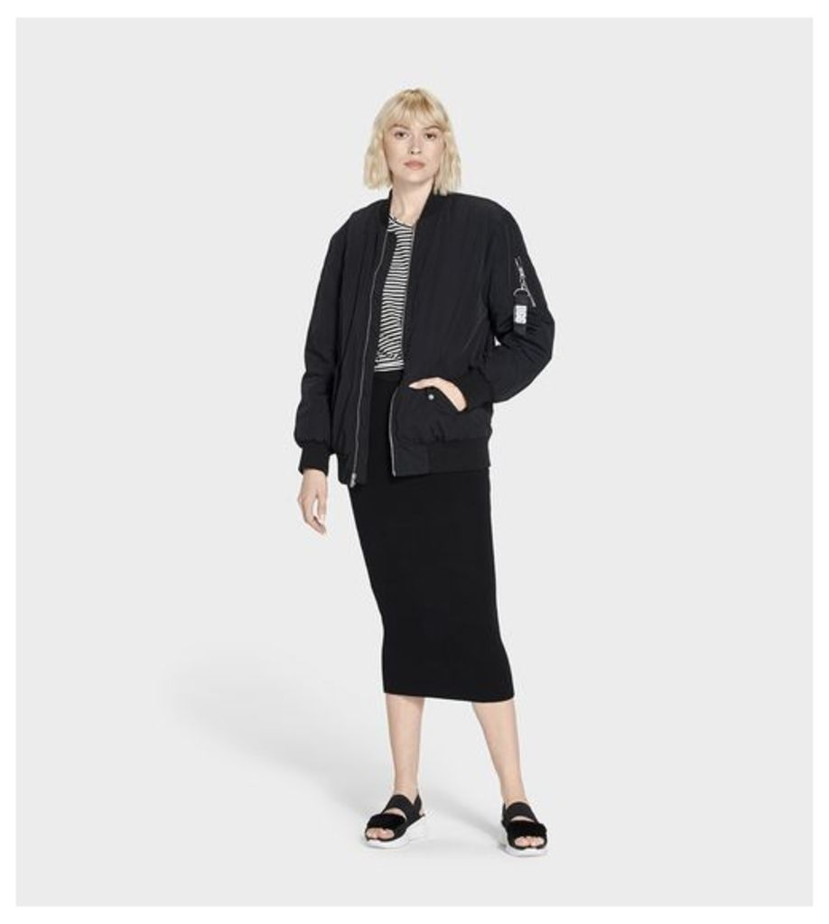 UGG Frances Oversized Bomber Womens Outerwear Black L