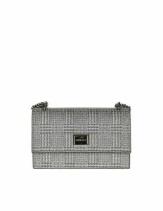 Jimmy Choo Leni Clutch In Fabric Glitter Color Silver