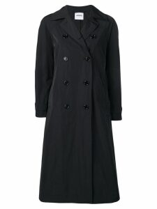 Aspesi flared double-breasted coat - Black
