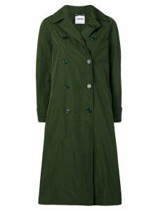 Aspesi double-breasted midi coat - Green