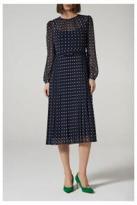 Womens L.K.Bennett Blue Avery Dress -  Blue