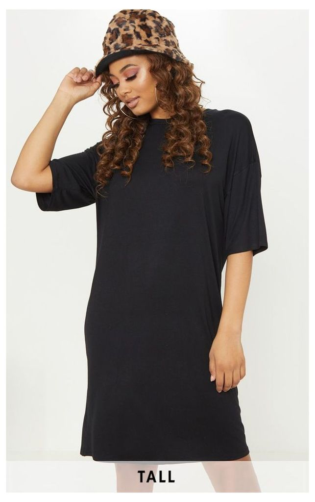 Tall Black Oversized T-shirt Dress, Black